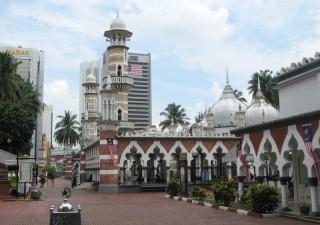 Masjid Jamek in Kuala Lumpur während Ihrer Malaysia Borneo Rundreise