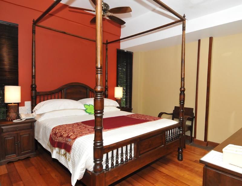 Stilvoll eingerichtete Zimmer im Boutique-Hotel in Kuala Lumpur