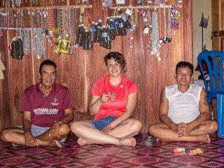 Madlen Vorwerk bei den Ibans im Batang Ai Nationalpark