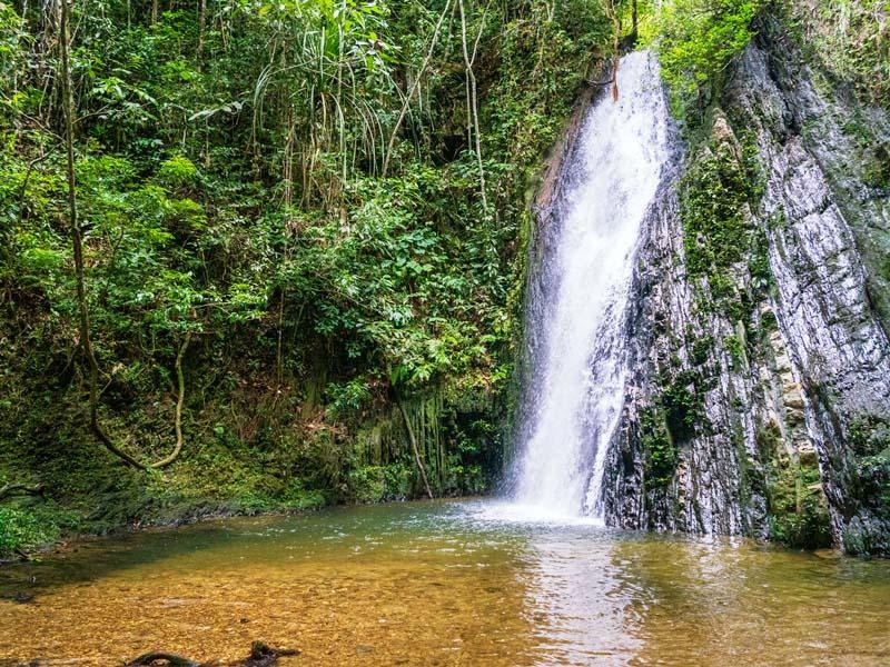 Der Wasserfall während der Tour