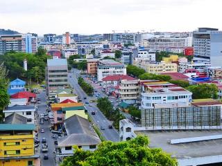 Blick auf Kota Kinabalu