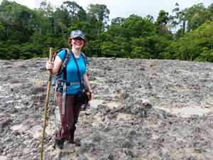 Wanderung zum Schlammvulkan im Tabin Reserve