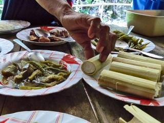 Frische Mahlzeiten aus dem Bambusrohr