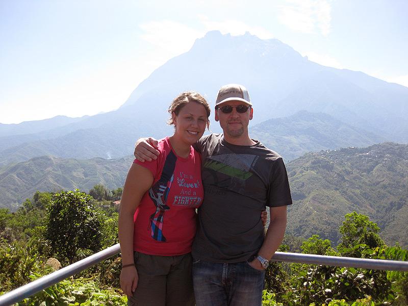 Blick auf den Mount Kinabalu