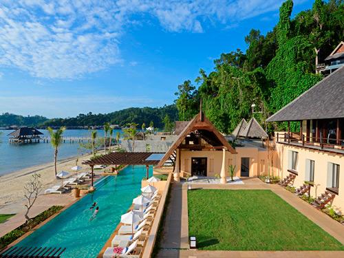 Komfortable Unterkunft auf Pulau Gaya