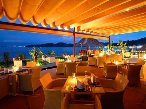 Restaurant auf Pulau Gaya