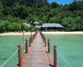 Anlegestelle bei der Insel Gaya