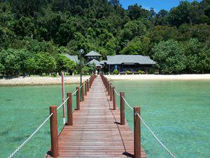Anlegestelle auf Pulau Gaya