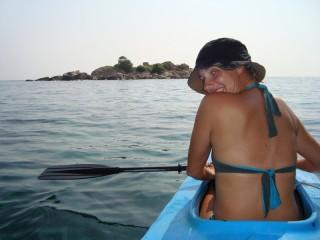 Mit dem Kajak von Gem Island nach Kapas Island