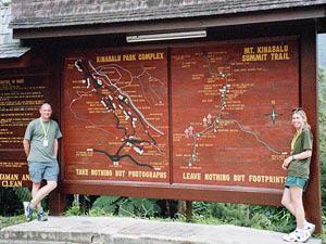 Übersicht des Kinabalu Nationalparks