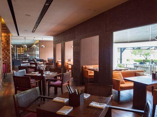 Einer der Restaurantbereiche des Hotels