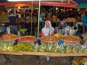 Nachtmarkt in Kota Kinabalu