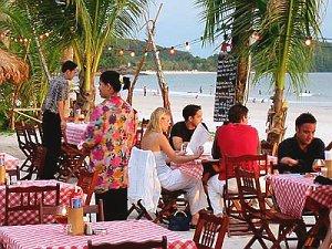 Kulinarik am Strand von Langkawi