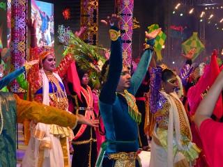 Bunte, traditionelle Feiern in Malaysia