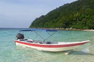Per Boot zur Insel