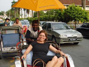 Mit dem Trishaw auf Malaysia Reisen