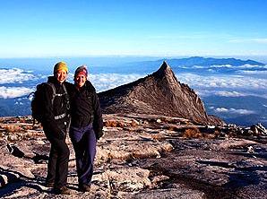 Auf der Spitze des Mount Kinabalus