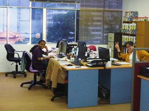 Das Büro unserer Partner-Agentur in Westmalaysia