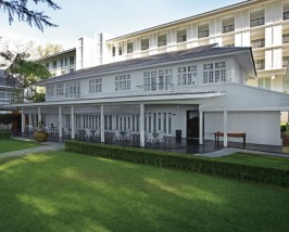 Der Innenhof Ihres traditionellen Hotels in Penang