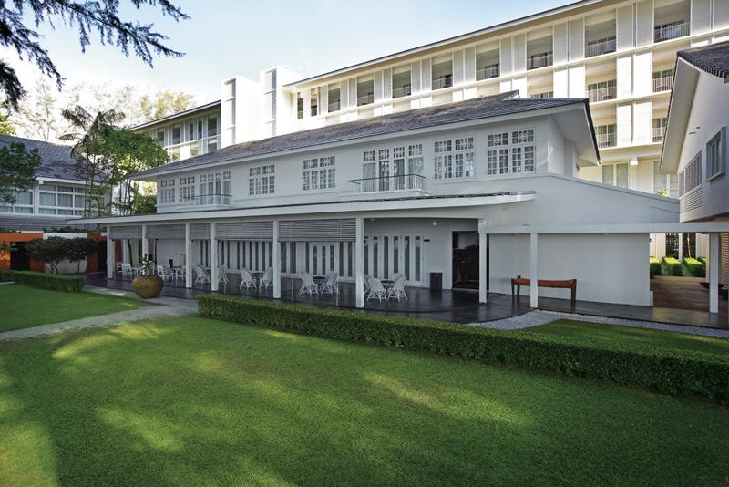Der Innenhof Ihres traditionellen Hotels in Penang