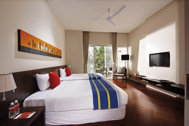 Gemütliche Zimmer im Strandresort auf Penang