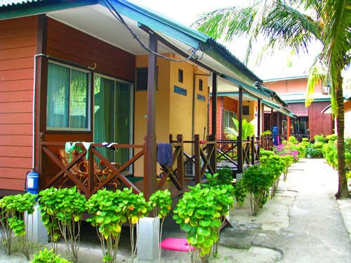 Die Chalets des Resorts auf den Perhentian Islands