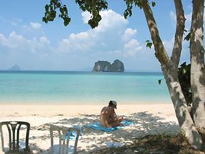 Am Strand von Pulau Perhentian Besar