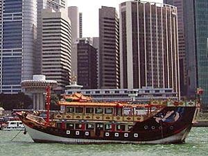 Fahrt über den Singapur River