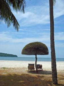 Weißer Sandstrand auf Langkawi