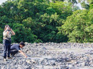 Schlammvulkan im Tabin Nationalpark