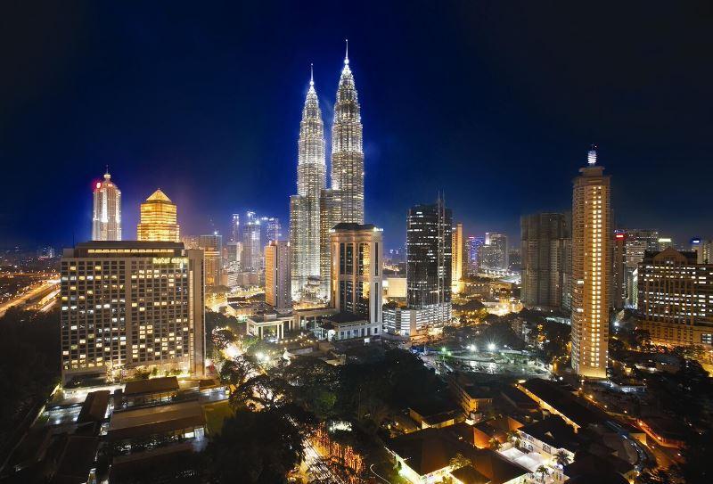 Rauschende Metropole in Malaysia