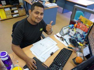 Mitarbeiter unserer Partneragentur in Malaysia