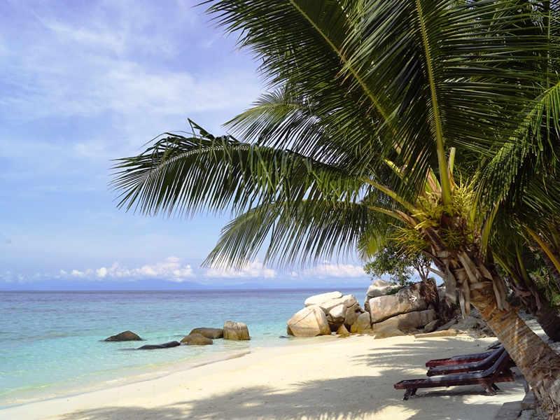 Weißer Sandstrand auf Pulau Lang Tengah