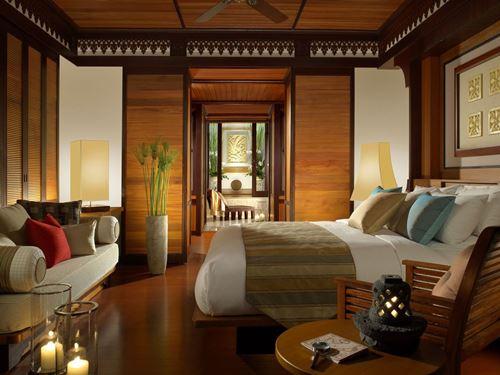 Komfortables Zimmer im Hotel auf Pangkor Laut