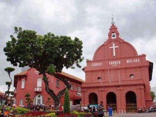 Der Kirchplatz von Melaka