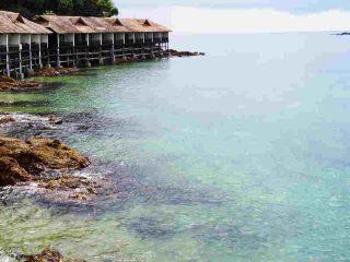 Die Zimmer auf Gem Island sind direkt am Meer