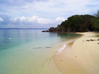 Einsamer Strand auf Gem Island