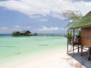 Borneo Rundreise - Ankunft auf der Insel Lankayan