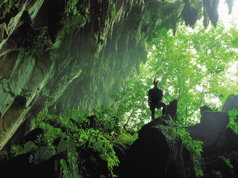 Höhleneingang vom Mulu Nationalpark