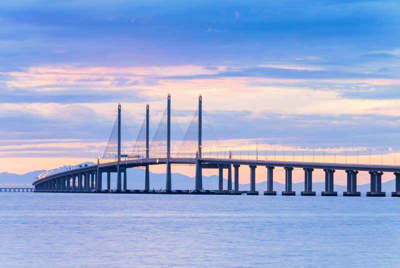 Penang Bridge auf Ihrer Mietwagenrundreise durch Malaysia
