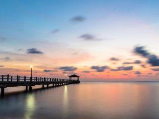 Sonnenuntergang am Strand von Pulau Tioman