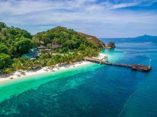 Der Bootssteg von Rawa Island