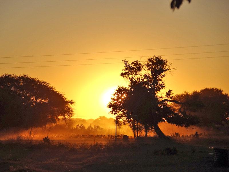 Sonnenuntergang Namibia Caprivi
