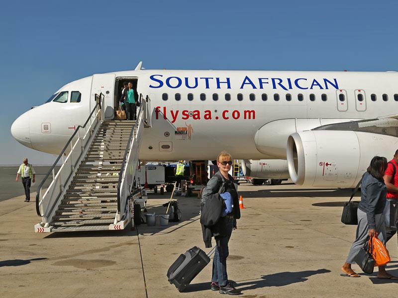 Flugzeug in Windhoek