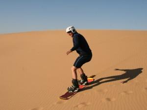 Sandboarden Dünen Swakopmund Ausflüge Namibia