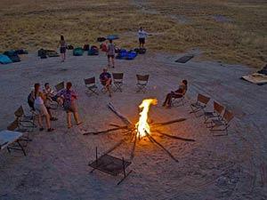 Makgadikgadi Salzpfannen Botswana Gweta Camping