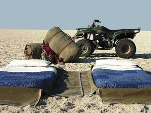 Makgadikgadi Salzpfannen Camp Übernachtung Botswana