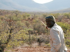 Guide Namibia Rhinotracking Nashörner Damaraland