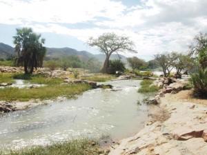 Namibia Epupa Falls Flusslandschaft Kaokoveld