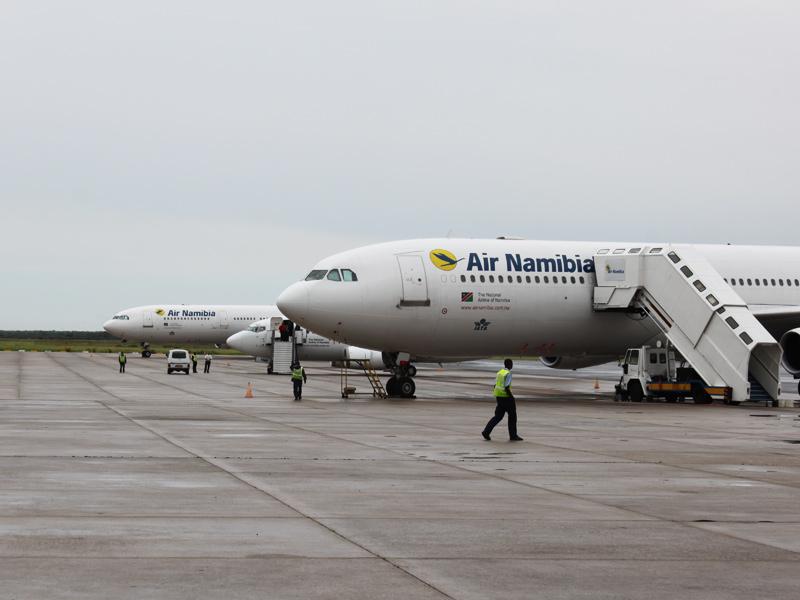 mit dem flieger nach namibia